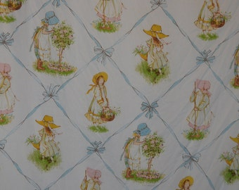 Vintage Holly Hobbie Twin Flat Bed Sheet