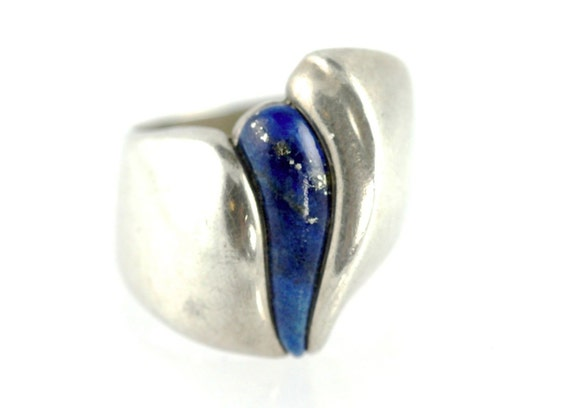 Kabana Sterling Silver Lapis Lazuli Ring by Yourgreatfinds on Etsy