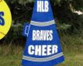 Megaphone, cheerleading personalized yard sign.