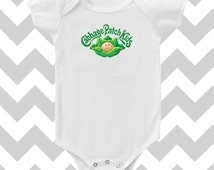 Cabbage Patch Modern Bodysuit with Words by Simply Chic Baby Boutique