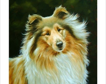 Rough Haired Collie Limited Edition Print. Personally signed and numbered by Award Winning Artist JOHN SILVER. jsfa010