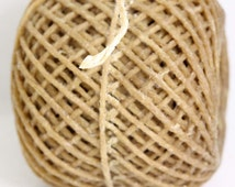 100% Organic Bees Waxed HEMP WICK,TWINE  /  Holds Flame like candle / Strong and Flexible for many craft use