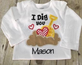 I dig you Valentine's Day shirt boy.  Valentines boys shirt