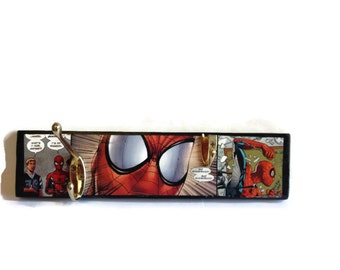 SPIDERMAN | Coat Pegs | COMIC BOOK | Wall Decor | Hanging Storage | Reclaimed | Recycled | Funktional | Gift Idea | Stocking Filler