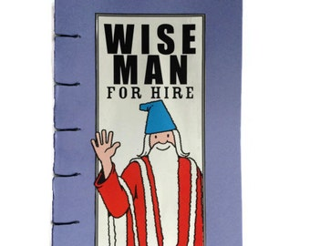 Wise Man | JOURNAL | Where's Wally | Notebook | Hand Stitched | Wizard Whitebeard | Blank Book | Comic Book | Gift Idea | Stocking Filler