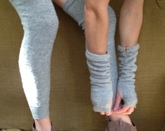 Cashmere Thigh Highs, made from 100% recycled cashmere