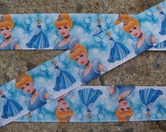"""Princess Ribbon hair Bow Ribbon Cinderella 1"""" Ribbon hair bow supplies Cinderella ribbon"""
