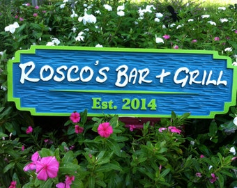 Island Theme Custom Bar Sign - Made to Order - Personalized Bar Signs