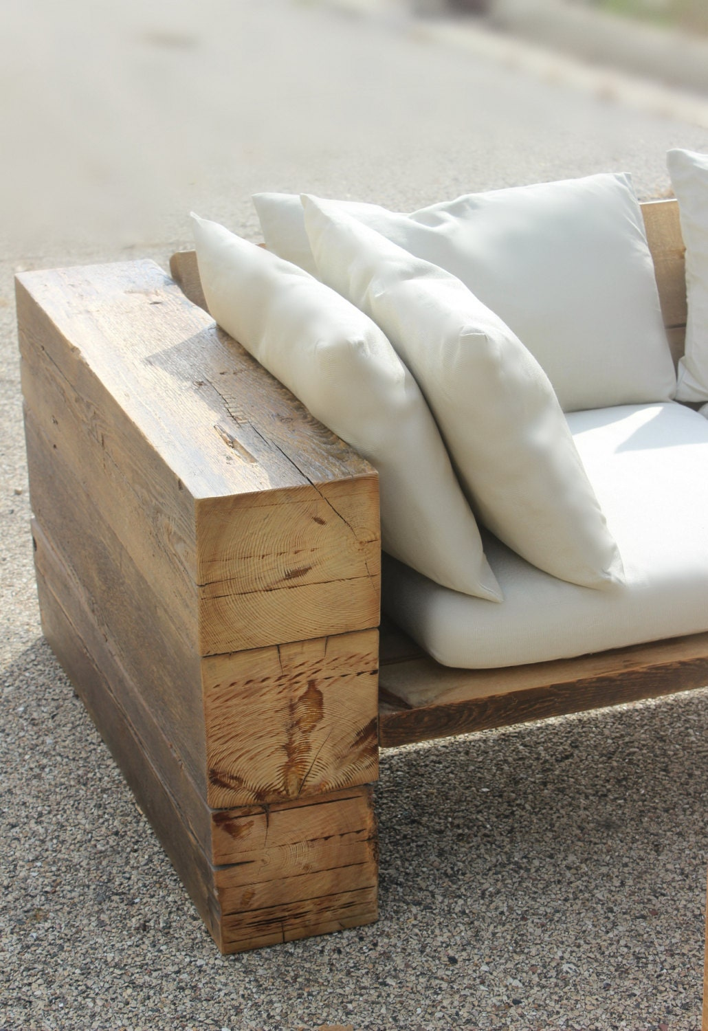 Rustic sofa couch sectional reclaimed wood by dendroco on etsy - Modelos de sofas ...