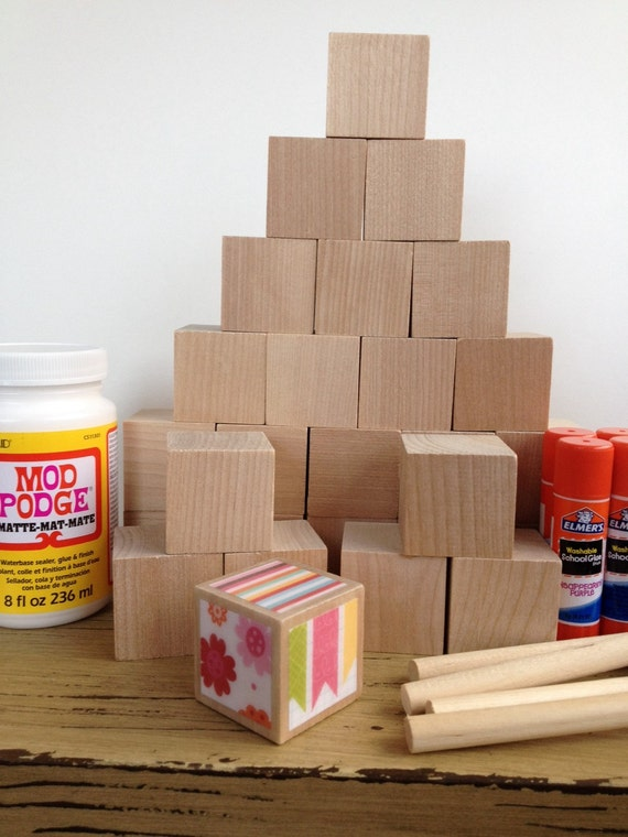 Diy wood baby blocks baby girl baby shower craft for Child craft wooden blocks