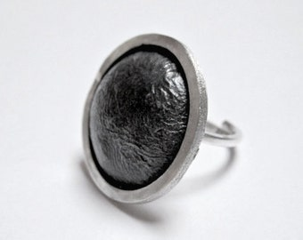 Handmade Silver Eclipse Ring.