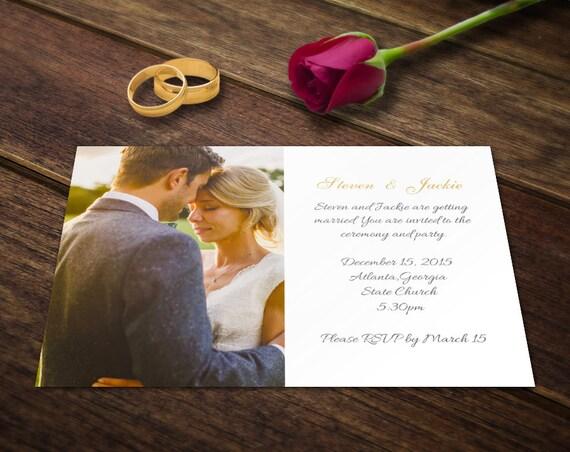 Photographic Wedding Invitations: Wedding Invitation Card Template Photoshop Templates