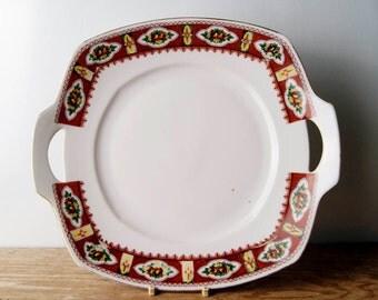 Porcelain Cake Serving Set Made In England
