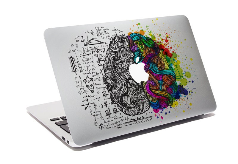 Macbook decal think different custom creative sticker for