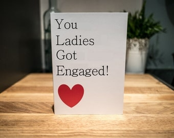 Lesbian Engagement Card | LGBT Greeting Card