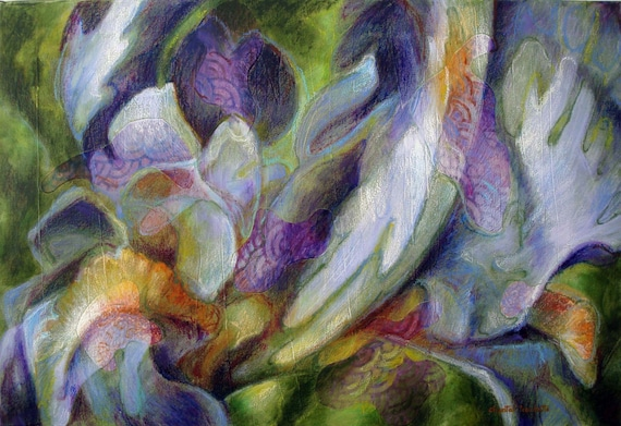 Iris Flower Painting Iris Flower Painting Abstract