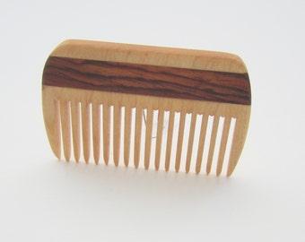 Wood Comb, Handmade, Men Comb, Women Comb,  Beard Comb, Natural Hair Care, Convenient Size, Comfort Feel, Safe Natural Finish