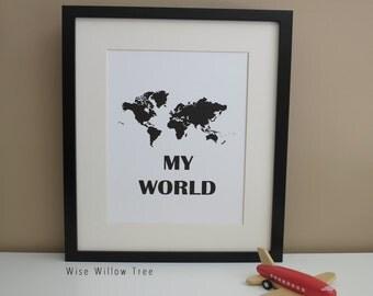 Nursery Print: My World