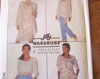 Simplicity 9022, size small  or 10-12, UNCUT sewing pattern, womens, misses, pants, skirt, top, jacket