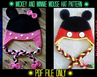 Mickey & Minnie Mouse Hat Crochet Pattern
