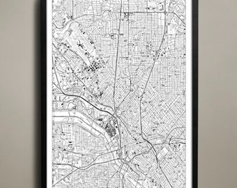 Dallas City Map - Dallas City Poster - Dallas City Print - Dallas Map - Dallas Map Print - Dallas Poster - Map of Dallas City - Dallas Print