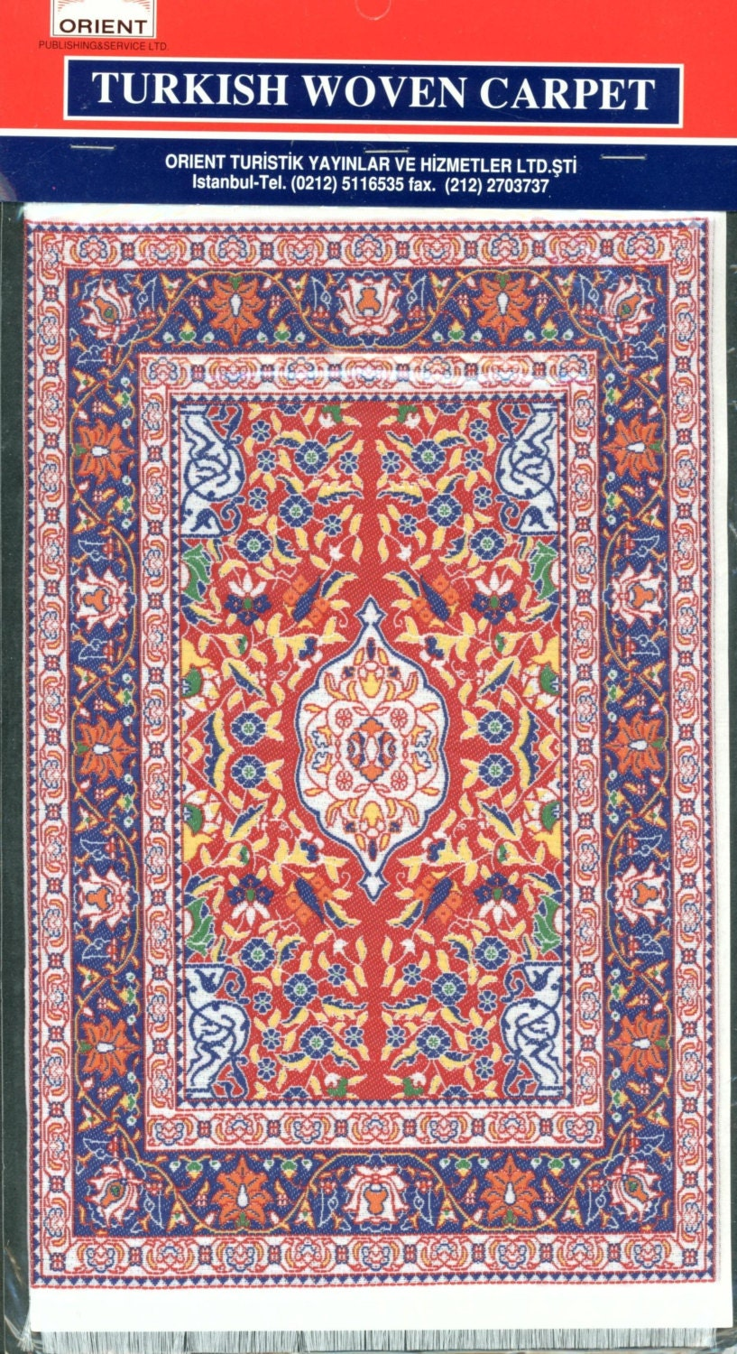 Turkish Woven Miniature Carpet 5 5 8 X 9 1 2 Inches Stk