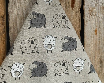 Sheep Tea Towel Lamb Towel Easter Towel Linen Towel Tea Hand Towel Kitchen Towel Dish Towel Sheep Easter Gift Spring Gift Birthday Gift