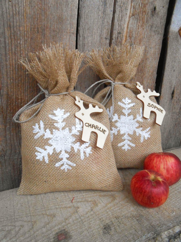 Christmas gift sack personalized bag santa