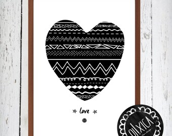 """Poster """"Love"""". Art print. quotes"""