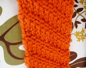 Womans Long Orange Handknit Woolen Winter Scarf /Pumpkin Orange Scarf/ Long Scarf/ Fall Fashion/BERKSHIRE