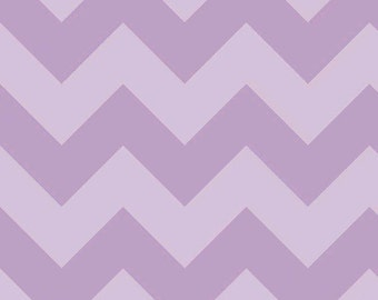 One Yard Large Chevron - Tone on Tone in Lavender Purple - Cotton Quilt Fabric - C390-121 - RBD Designers for Riley Blake Designs (W2449)