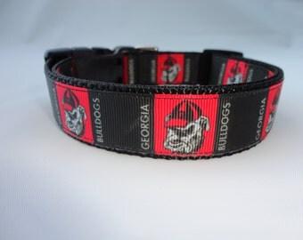 Georgia Bulldogs UGA Dog Collar Adjustable
