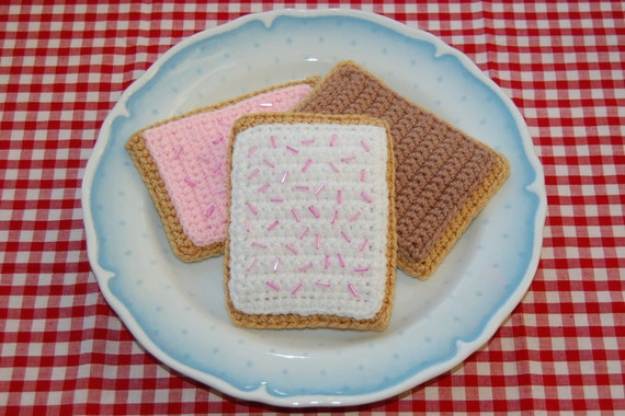 Crochet Pattern for Pop Tarts / Toaster Pastries - Play Food, Toy Food