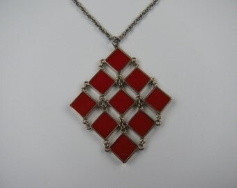 Unusual and Colorful MOD Style Necklace