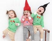 Clearance sale! limited quantity available! kids Christmas pajamas-Striped / Christmas PJs / Christmas Pajamas for kids / toddler size  6-7