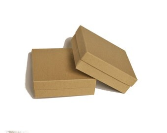 18 Jewelry boxes with lid I Kraft brown, grey, white presentation boxes I Small square boxes, favor boxes 3.54x3.54x1.18""