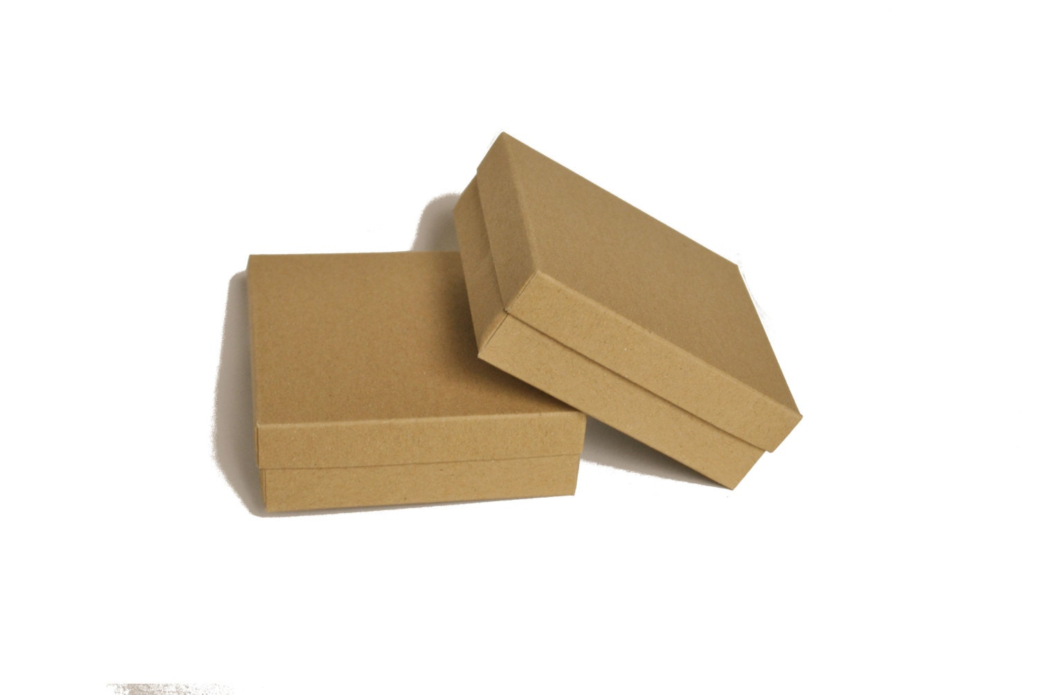 18 jewelry boxes with lid i kraft brown grey white for Small cardboard jewelry boxes with lids