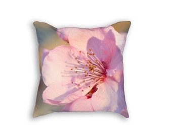 Pillow 18x18 outdoor cushion homewares housewares pink blossom patio oudoor spring summer