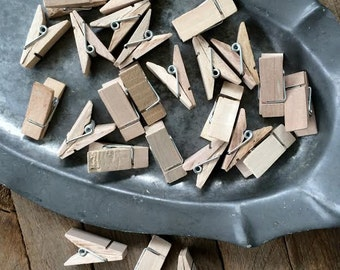 25 Chubby Wood Clothespins- Craft Supply
