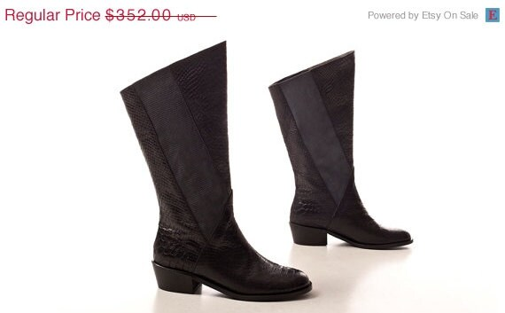 clearance boots on sale high boots black by normanandbella