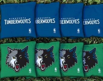 Minnesota Timberwolves Cornhole Bags - NBA Licensed