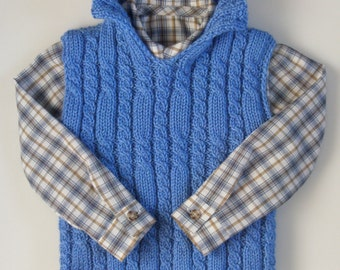 Vest for boy,Hipster Children Clothes, Baby Boy Vest,Cable knit VEST / Sweater in Blue color,winter clothing,Holiday outfit