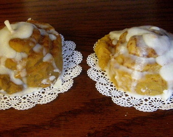Orange Danish and Cinnabon scented Pastry Soy Candles