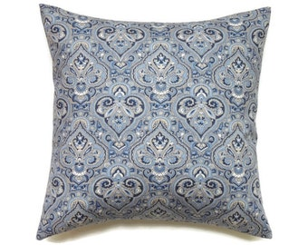 Blue Pillow, 20x20 Pillow Cover, Decorative Pillow, Accent Pillow, Cushion Cover, cm, Pillow Covers, Waverly Paris Paisley Indigo