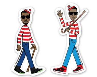 """Jay Z & Kanye West """"Gotta Find Me"""" Sticker Pack"""