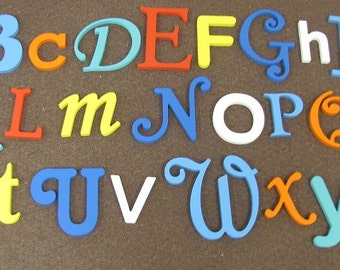 Painted Random alphabet set finished wooden letters wall decor - A through Z