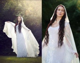 Ivory organza Cloak