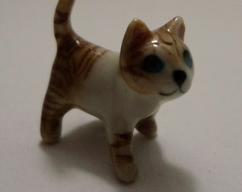 Ceramic Tiny Cat Figurine Dollhouse Miniature Best Quality Finely Painted Home Decor/Pet Collection/Good Gift