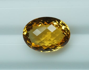 AAA Quality Natural Golden Citrine Oval Checkerboard Cut Oval Gemstone set for jewelry (Aini Gems)