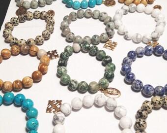 Stretch Beaded Cross Bracelets